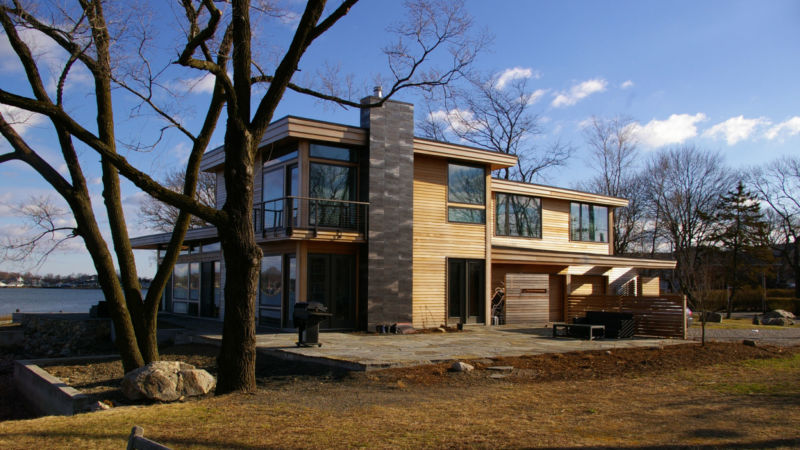 LEED Platinum Certified green Home in CT on LI Sound