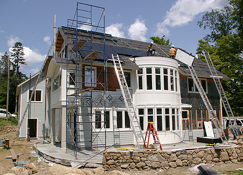Green Home being built in Connecticut