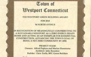 Westport green award crpd