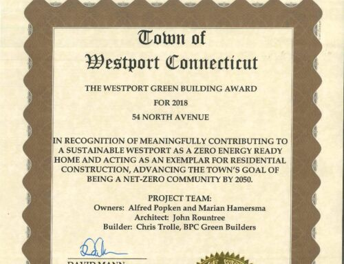 BPC Green Builders Wins WestPort's First Green Building Residential Award