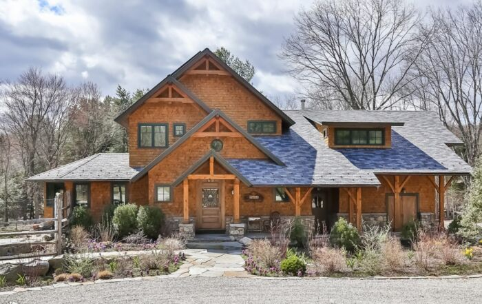 LEED Platinum Certified Home in New Canaan CT Front View