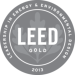 LEED Gold 2013 badge