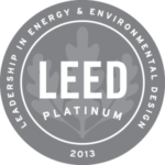 LEED Platinum 2013 badge