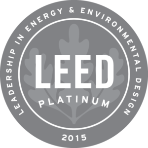 LEED Platinum 2015 badge