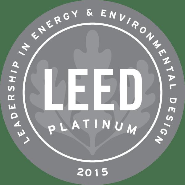 LEED Platinum 2015 badge