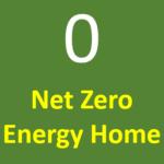 net zero energy home logo
