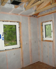 A personal journey building my own passive house part 4 - How to blow insulation into exterior walls ...