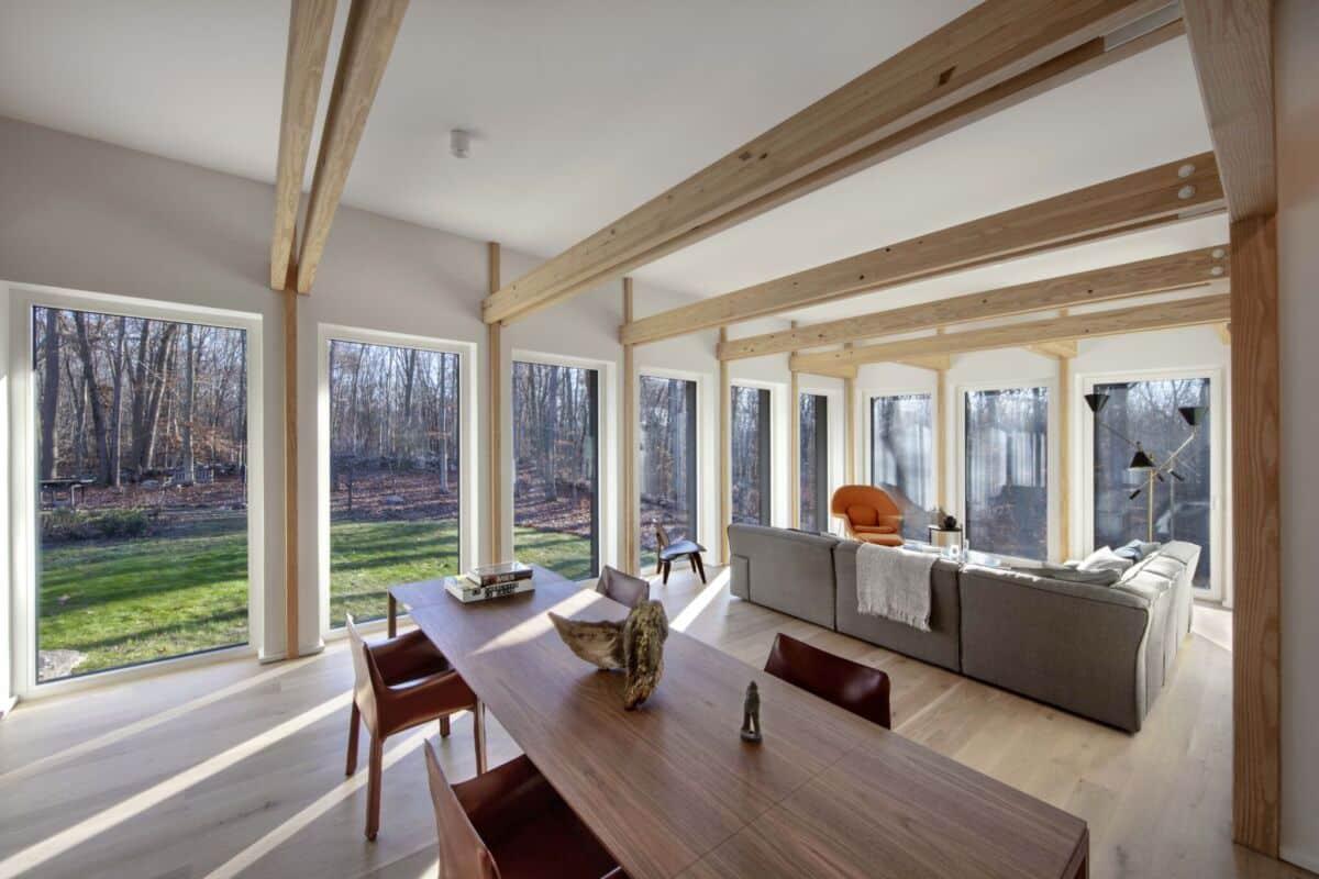 passive house interior in Stamford CT