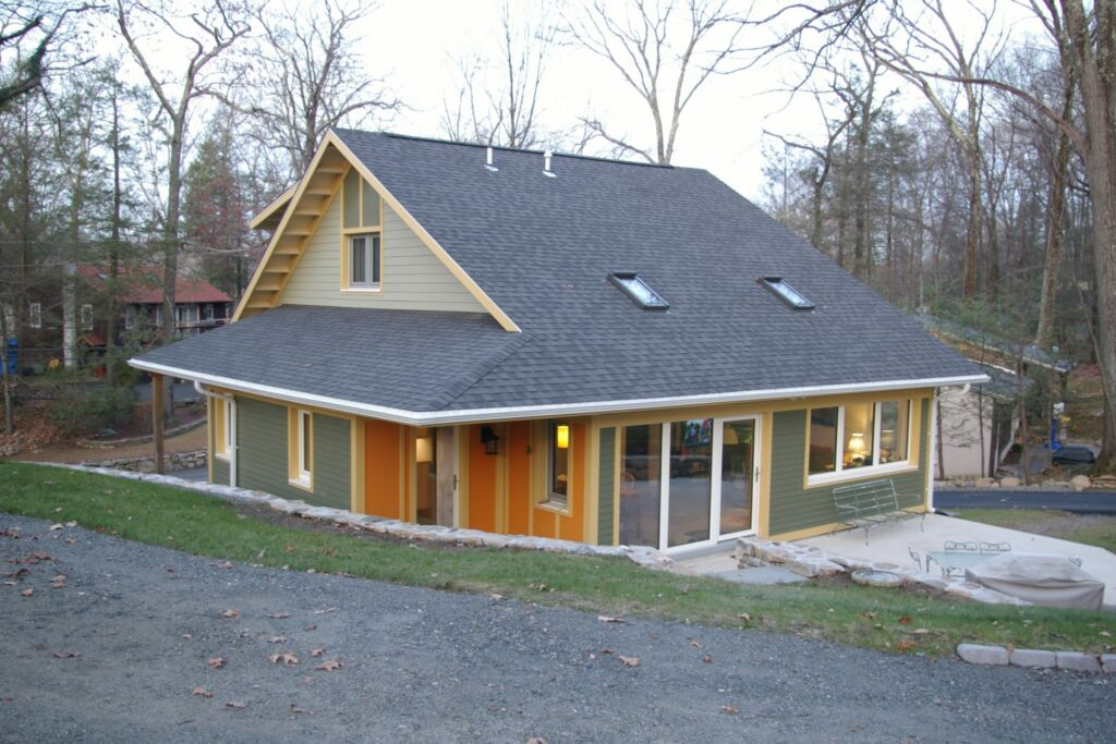 The rear exterior of my Passive House