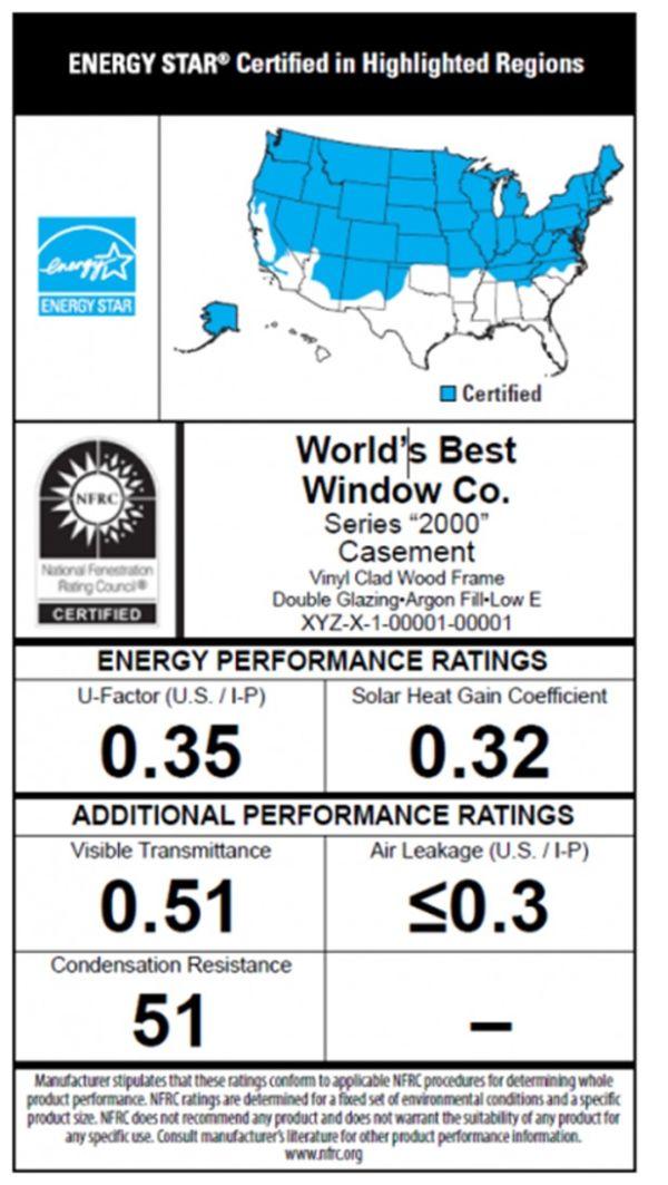 Energy star window label