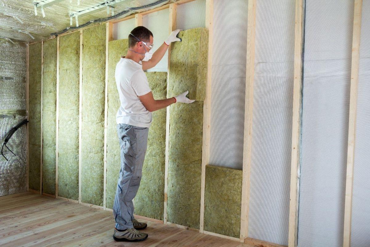 batt insulation being installed