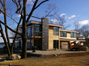 Contemporary green home in Connecticut built by BPC Green Builders
