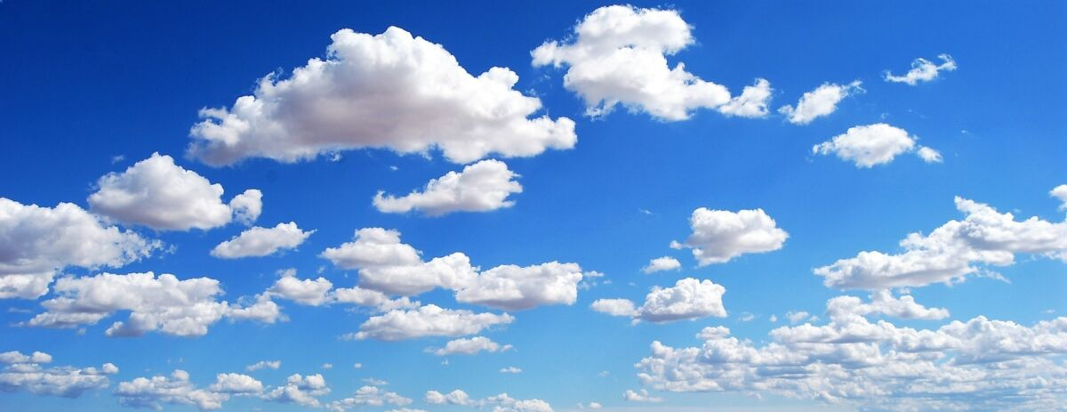 clean air sky with clouds