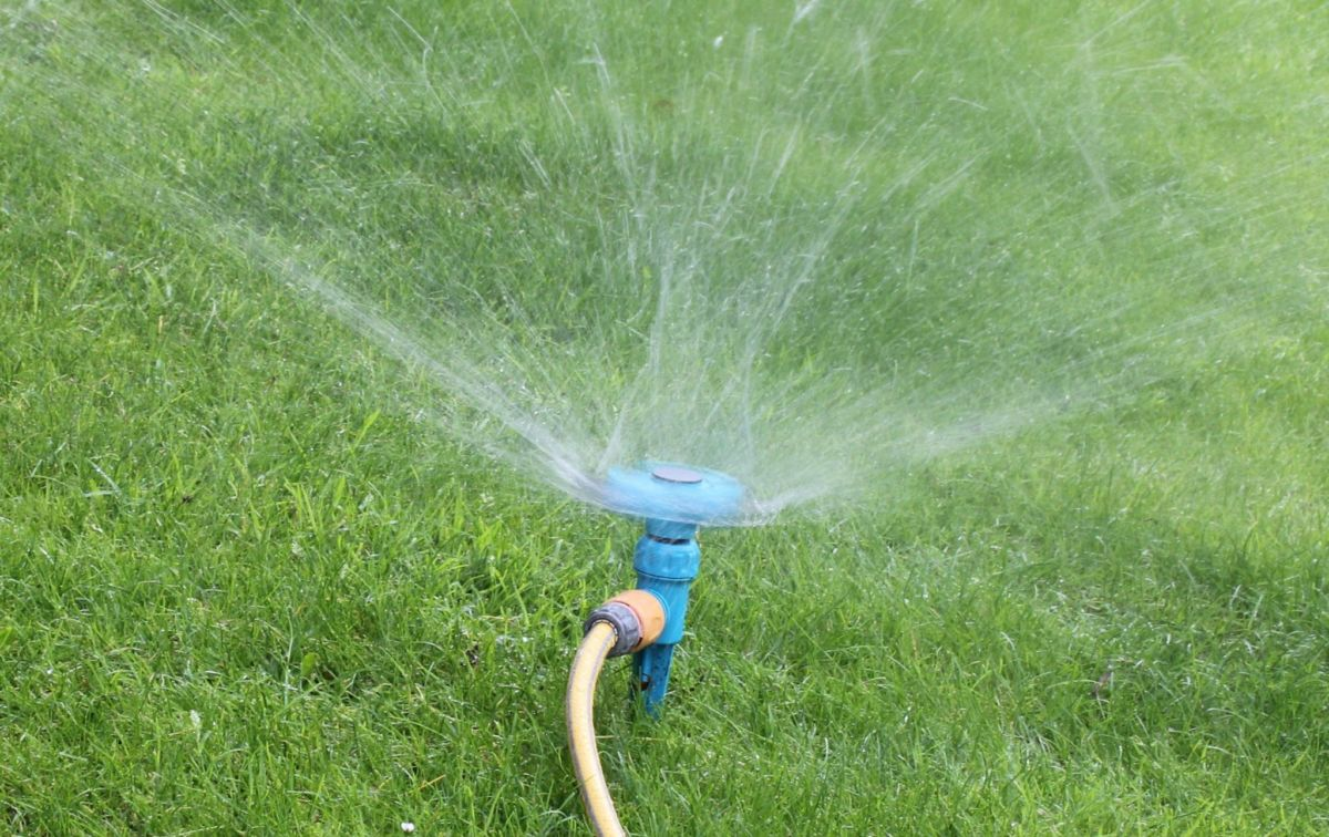 lawn sprinkler using graywater