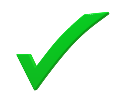 green check mark for certified
