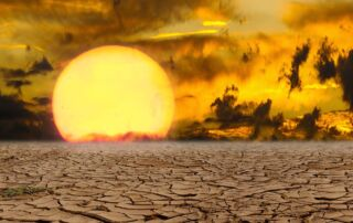 extreme heat desert sunset