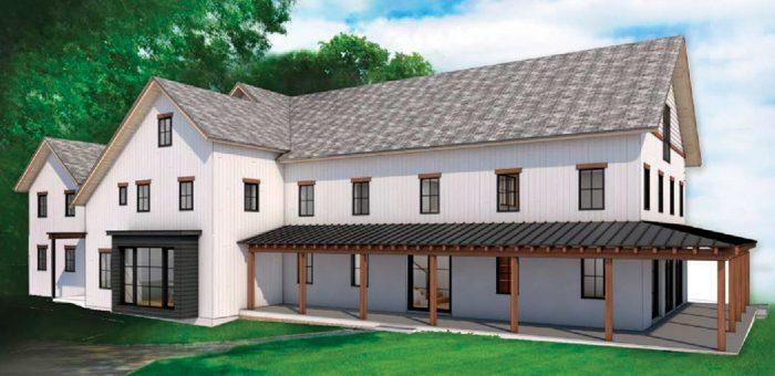 illustration of new net zero energy home being built