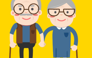 illustration of two senior adults