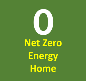 net zero energy home logo