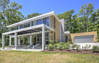 modern zero energy home in CT overlooking the sound